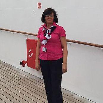 Am Deck der Queen Mary 2