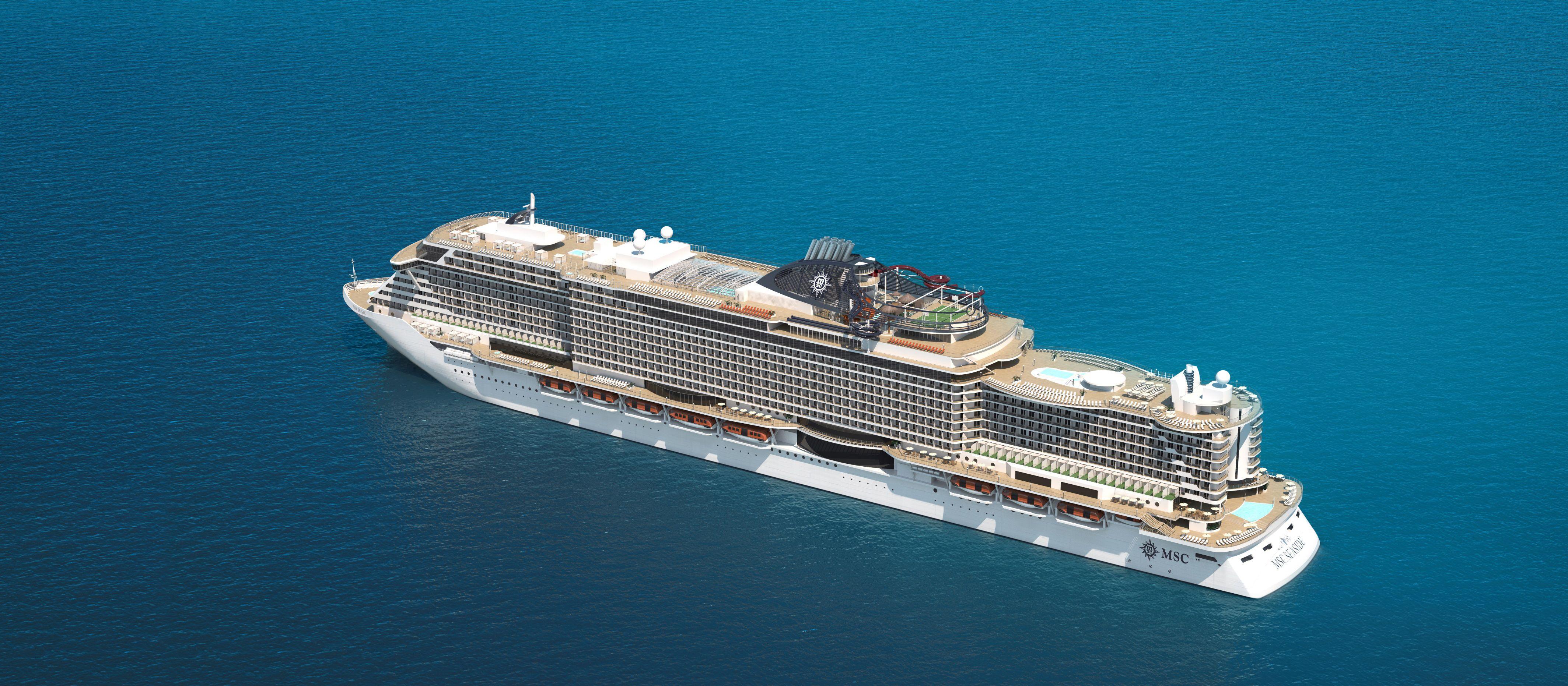 Luftaufnahme der MSC Seaside