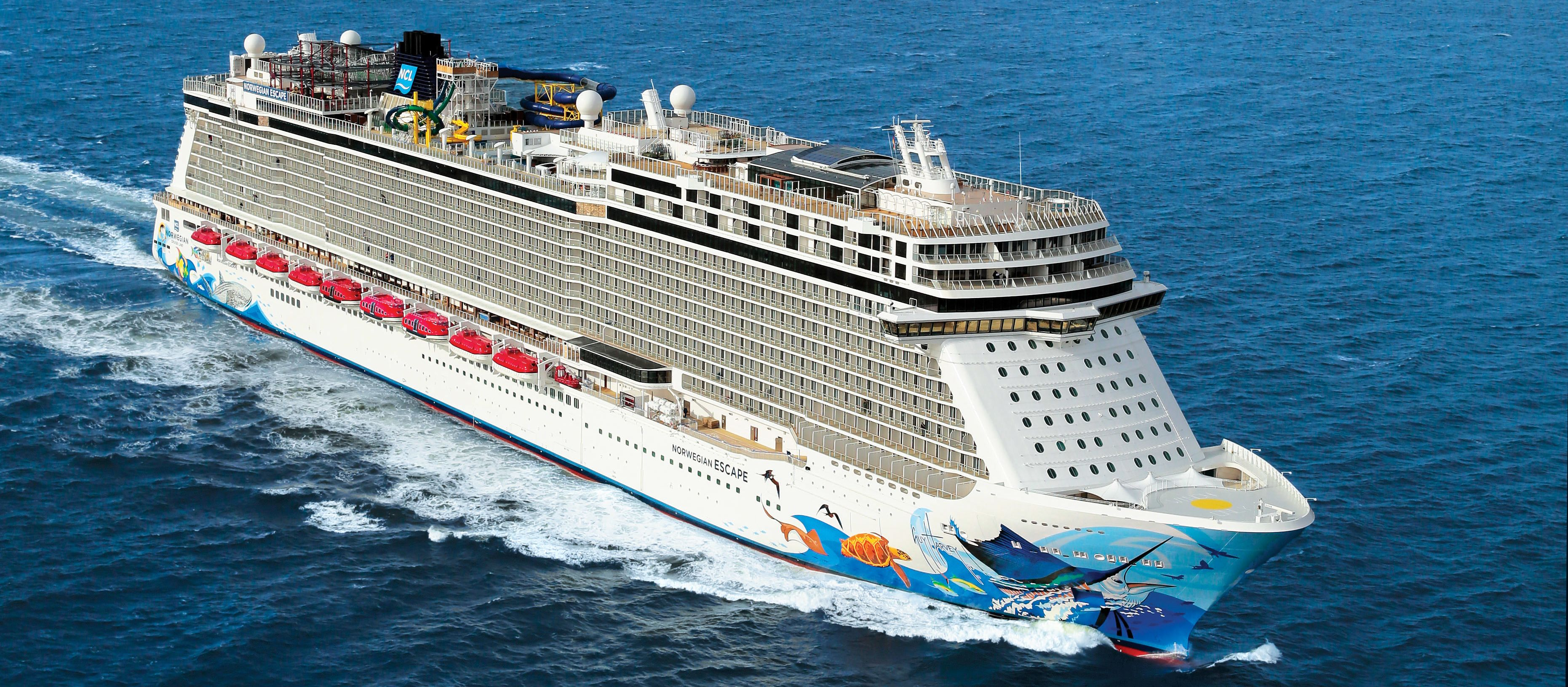 Norwegian Escape during Sea Trials along the coast of Norway
