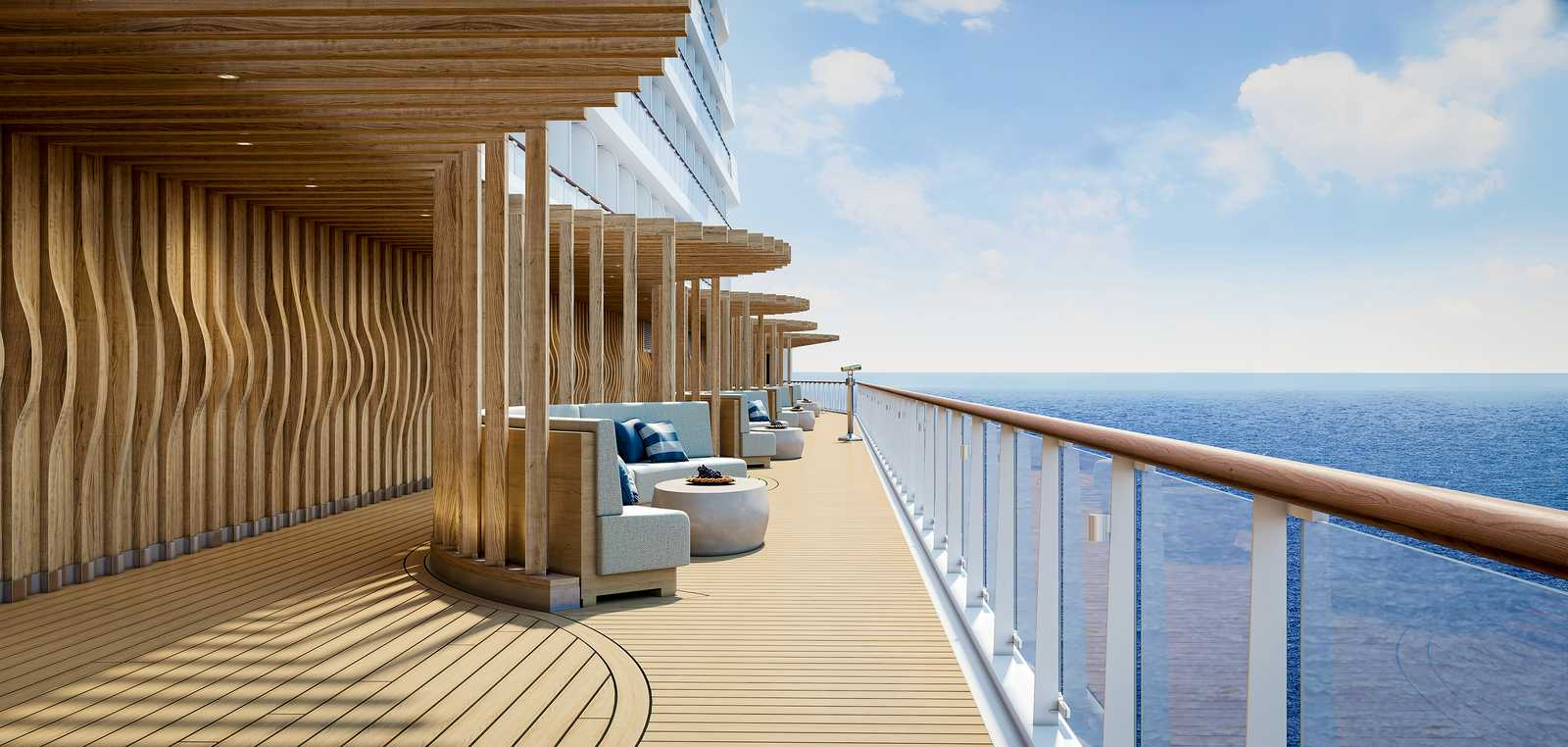Entspannen auf der La Terraza am Ocean Boulevard auf der Norwegian Prima