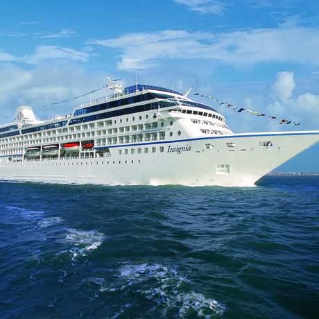Das Insignia Kreuzfahrtschiff der Oceania Cruises Reederei