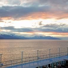 Aussicht vom Deck der Regatta von Oceania Cruises