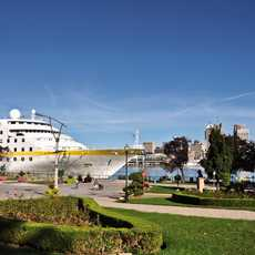 Die MS Hamburg in Windsor, Kanada