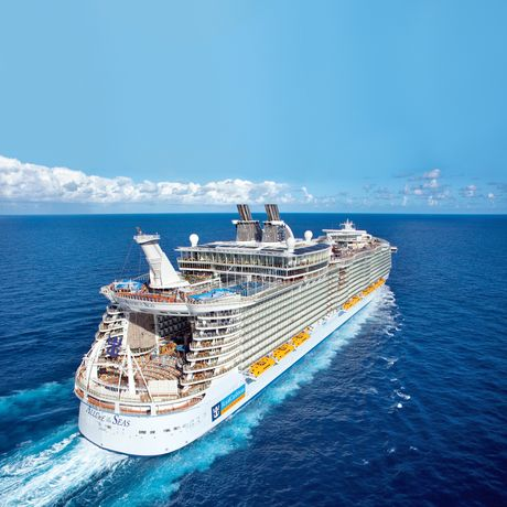 Die Allure of the Seas im weiten Meer