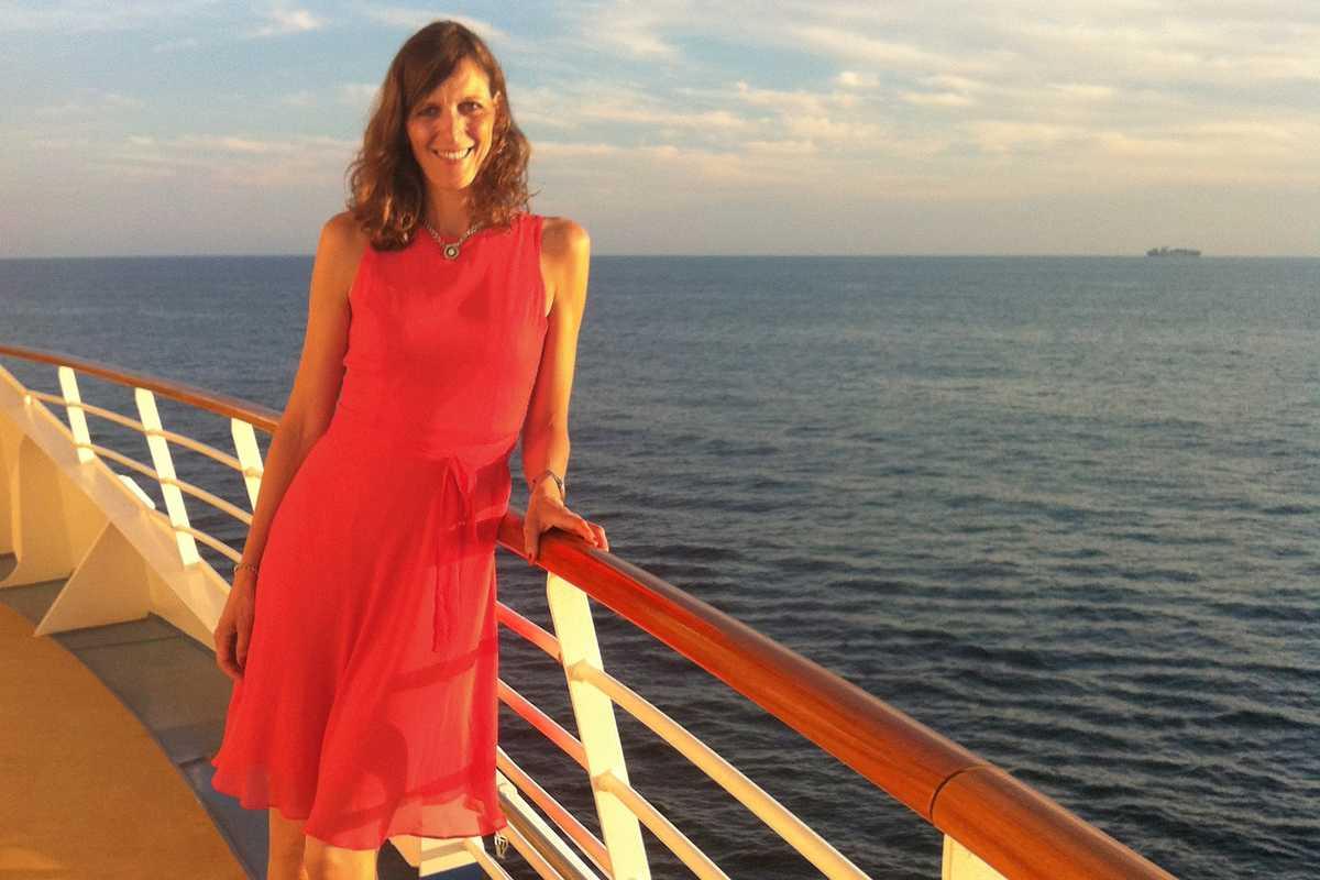 Birthe Witte an Bord der Harmony of the Seas der Royal Caribbean Reederei