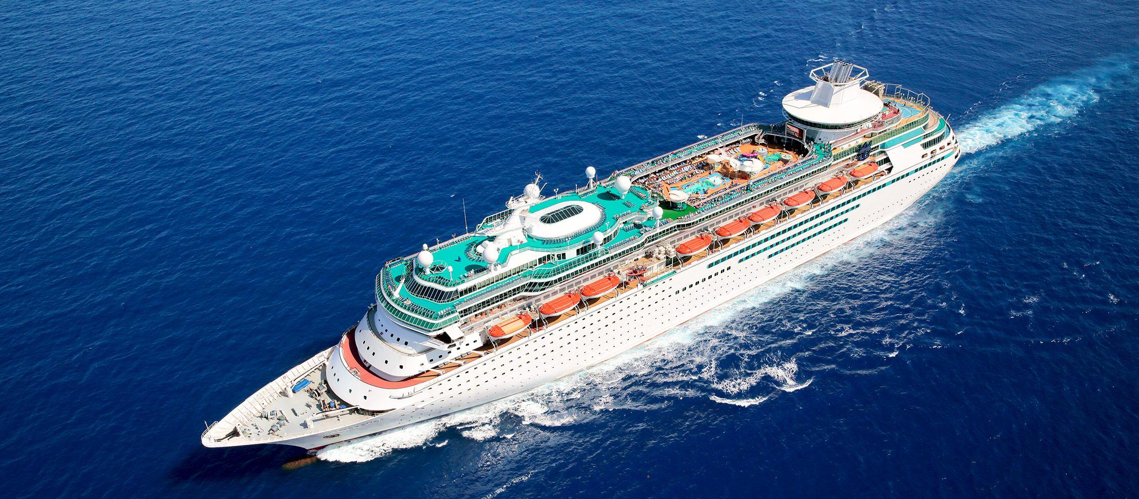 Luftansicht der Majesty of the Seas der Royal Caribbean Rederei