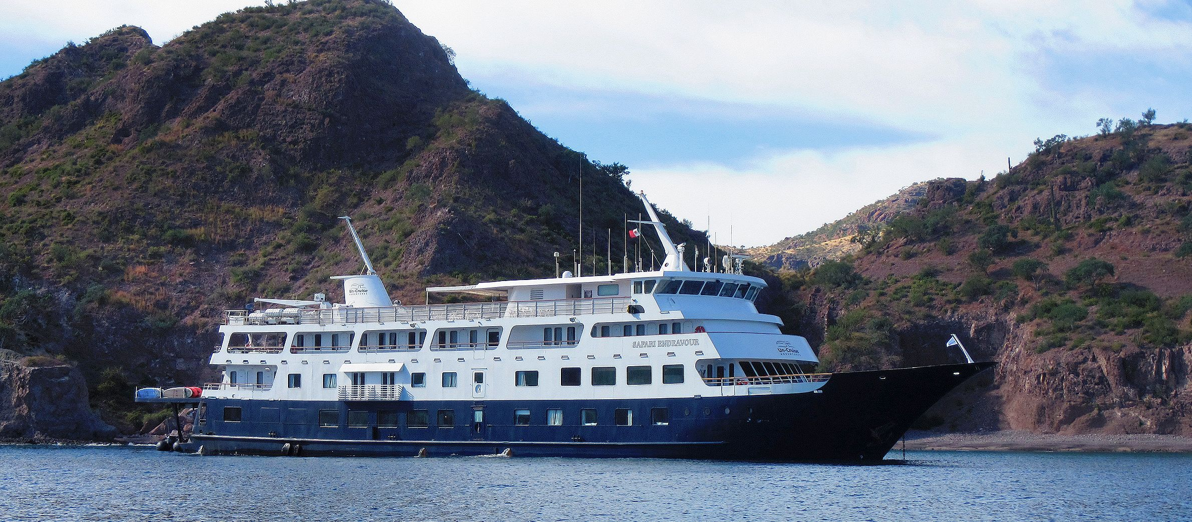 Das Safari Endeavour Schiff der UnCruise Adventures während der Mexico's Sea of Cortés Tour