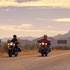 Motorradfahrer auf der Route 66