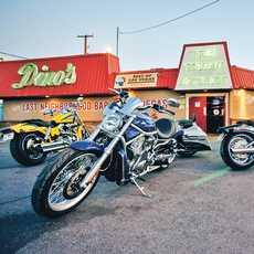 Bikes auf der Route 66 in Las Vegas, Nevada