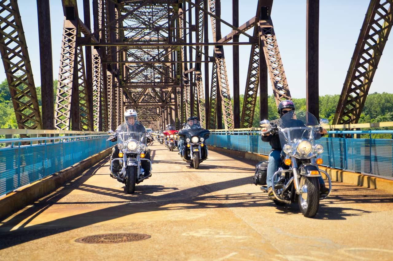 Motorradtour auf der Route 66 bei Chicago