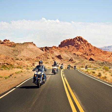 Motorradtour durch das Valley of Fire