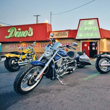 Bikes auf der Route 66 in Las Vegas