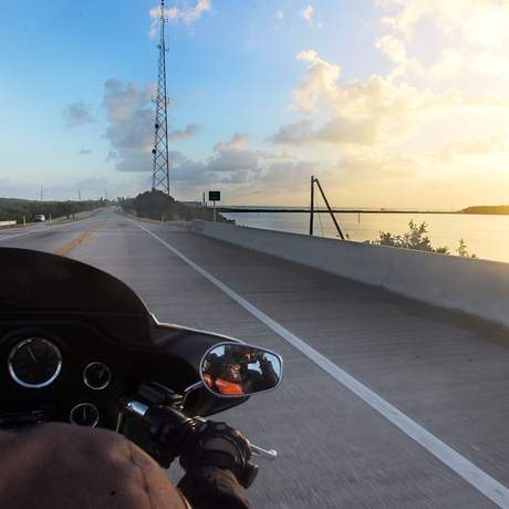 Mit dem Motorrad unterwegs auf den Florida Keys