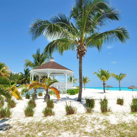 Pavillon am Strand vom Abaco Treasure Cay Beach