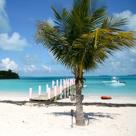 Strand beim Treasure Sands Club, Bahamas