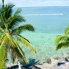 Balkonausblick vom Bluff House, Bahamas