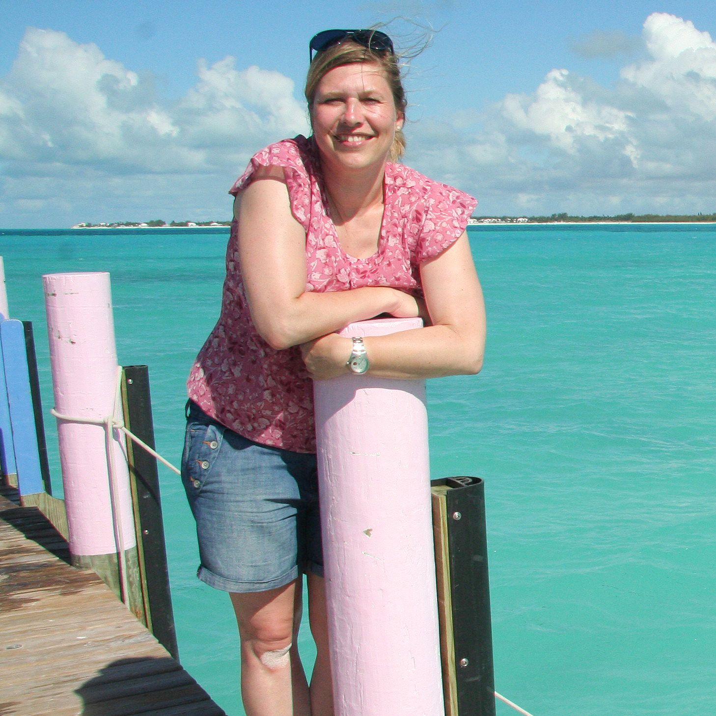 Steg am Treasure Cay Beach, Abaco, Bahamas