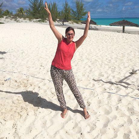 Am Strand von Treasure Cay, Abaco, Bahamas