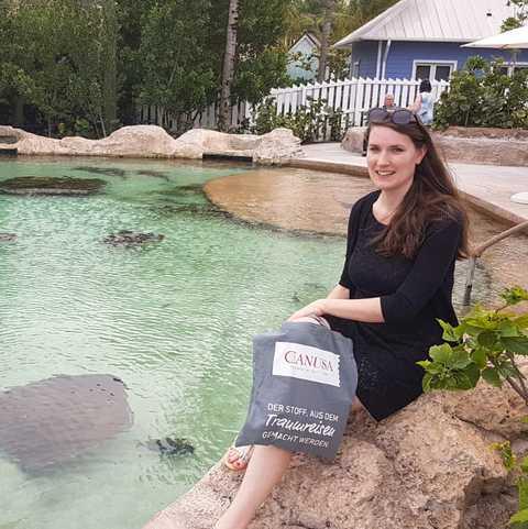 CANUSA Mitarbeiterin Bianca Schabel genießt die Vielfalt der Bahamas
