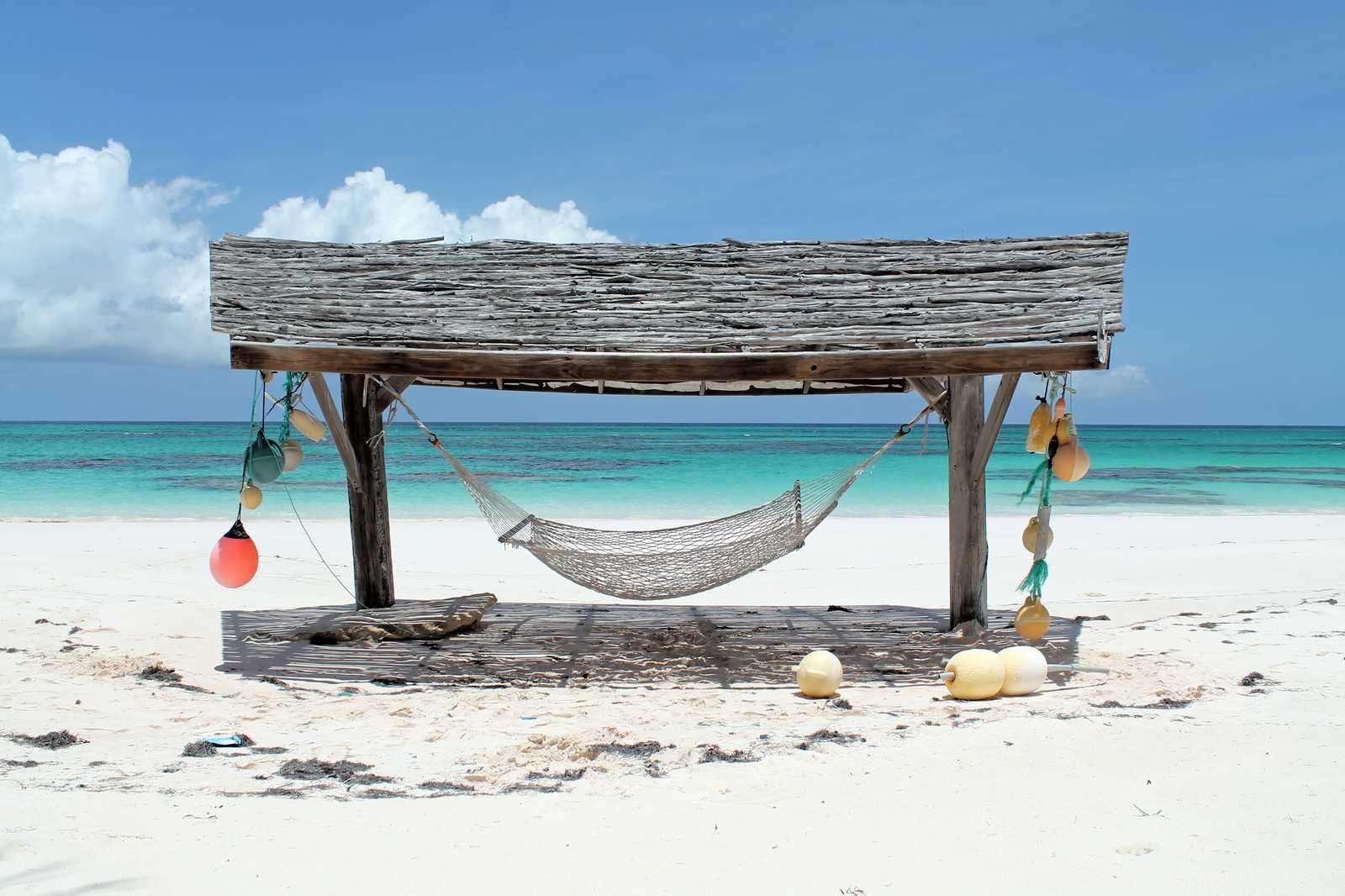 Hängematte auf den Bahamas