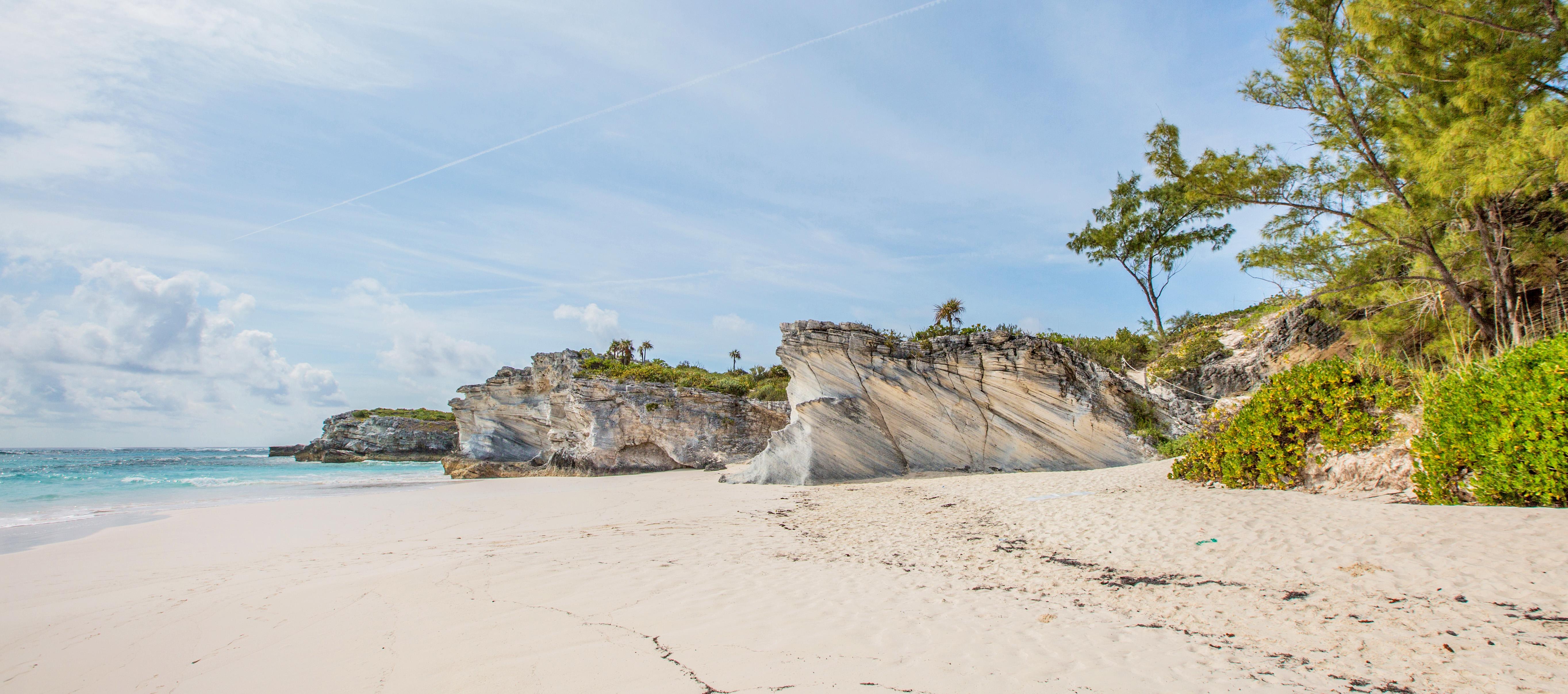 Ein Strand auf Eleuthera, Bahamas