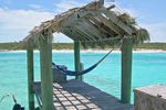 Hängematte auf Exuma Bahamas