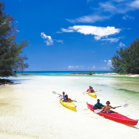 Kayaker auf Grand Bahama