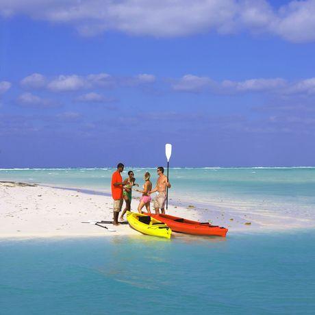 Kayaker auf Grandbahama East, Bahamas