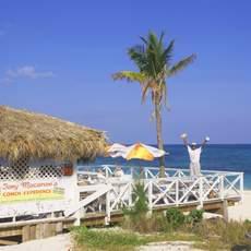 Toni Macaronis Grill Conch Experience auf Grand Bahama, Taino Beach