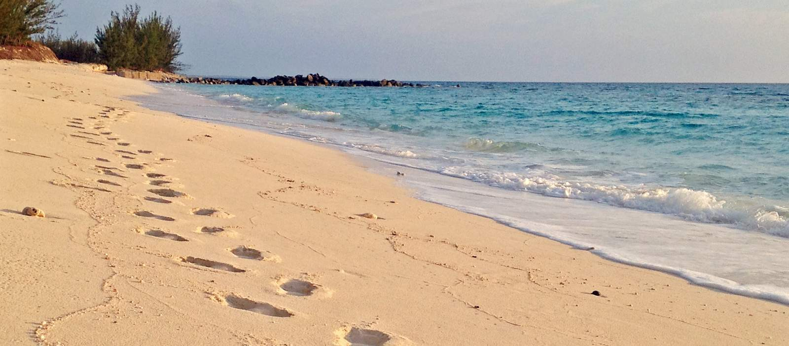 Strandabschnitt auf San Salvador