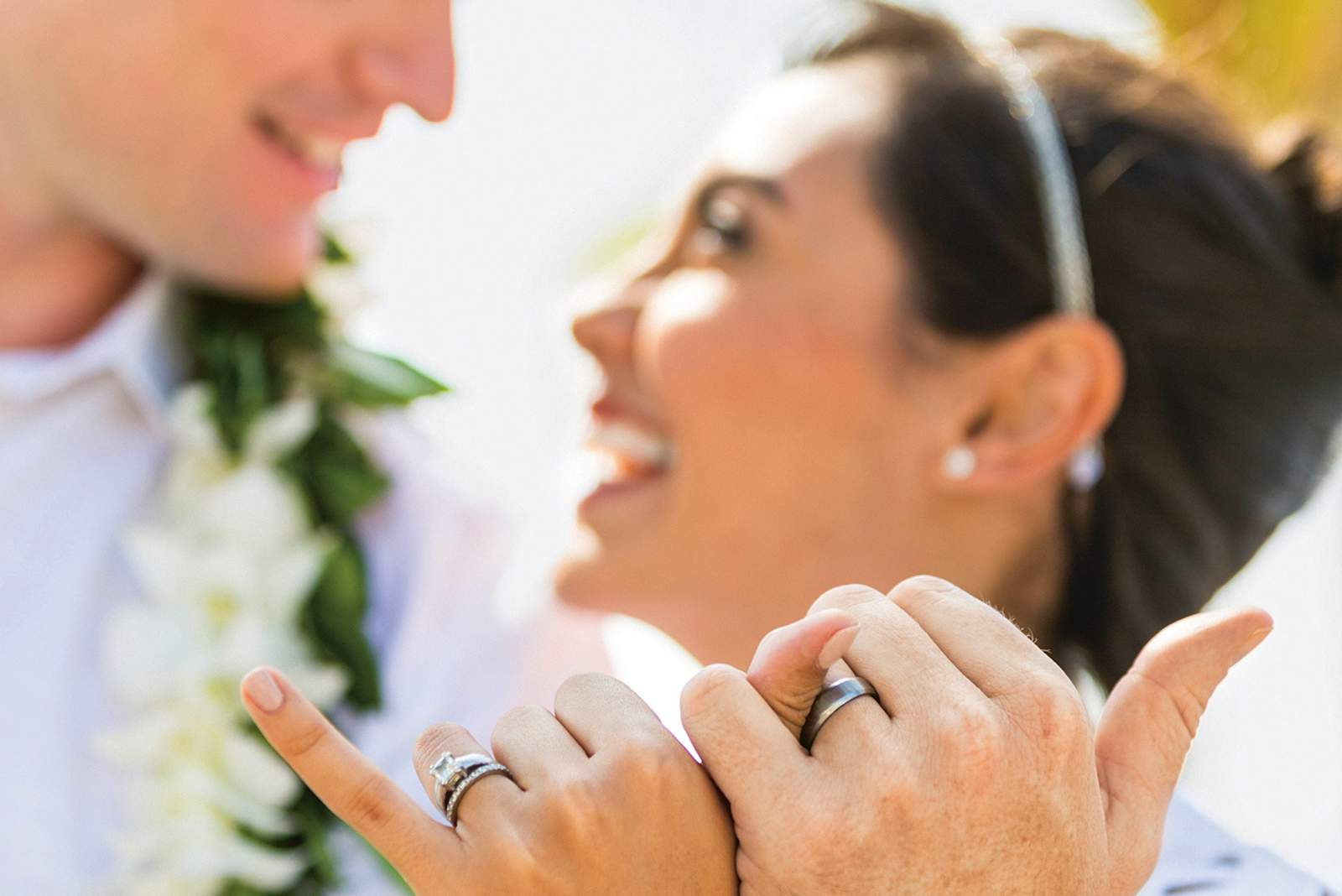 Hochzeitspaar in Kailua-Kona auf Hawaii Island