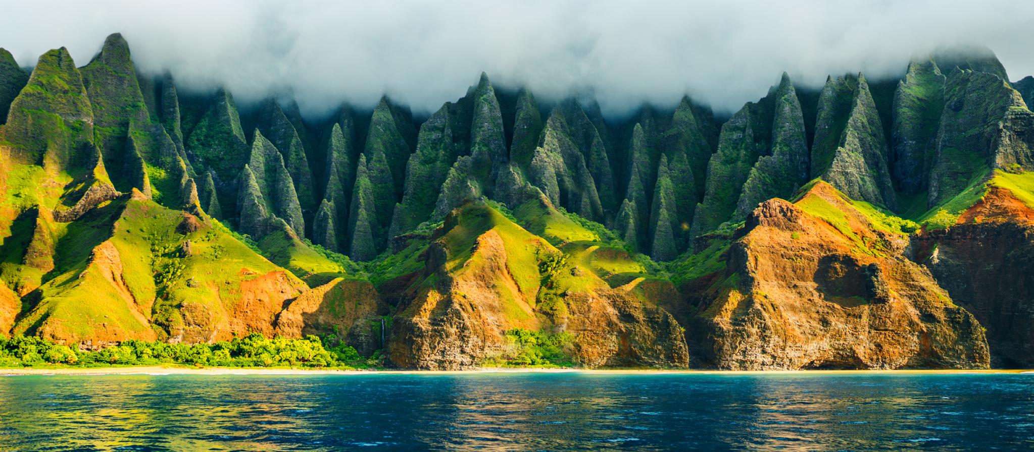 Die atemberaubende Na Pali Küste auf Kauai, Hawaii