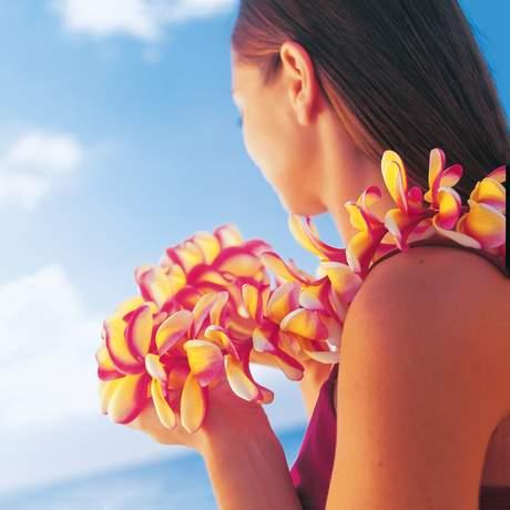 Traditioneller Lei aus Blüten