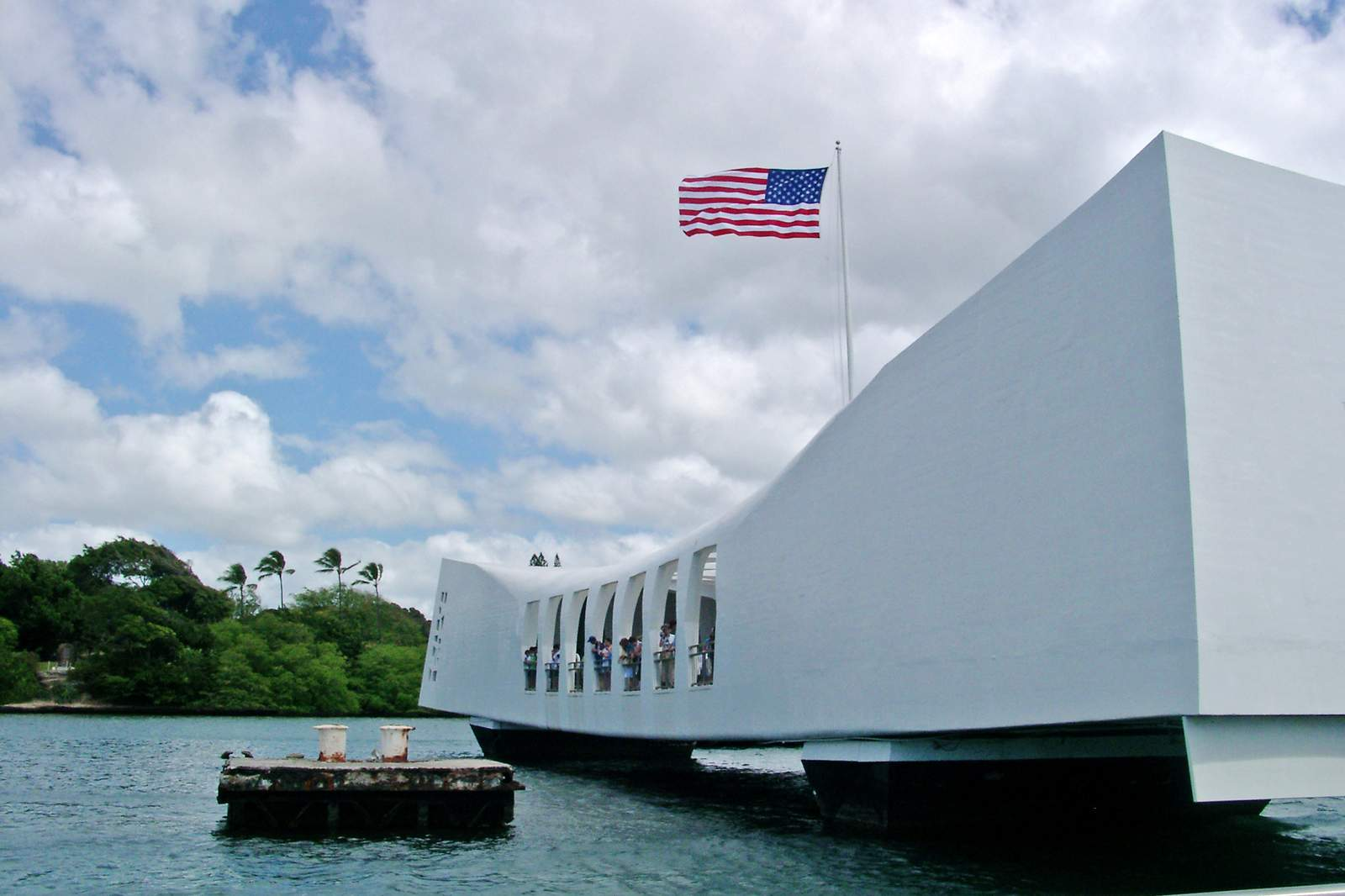 Das USS Arizona Memorial auf Ford Island, Hawaii