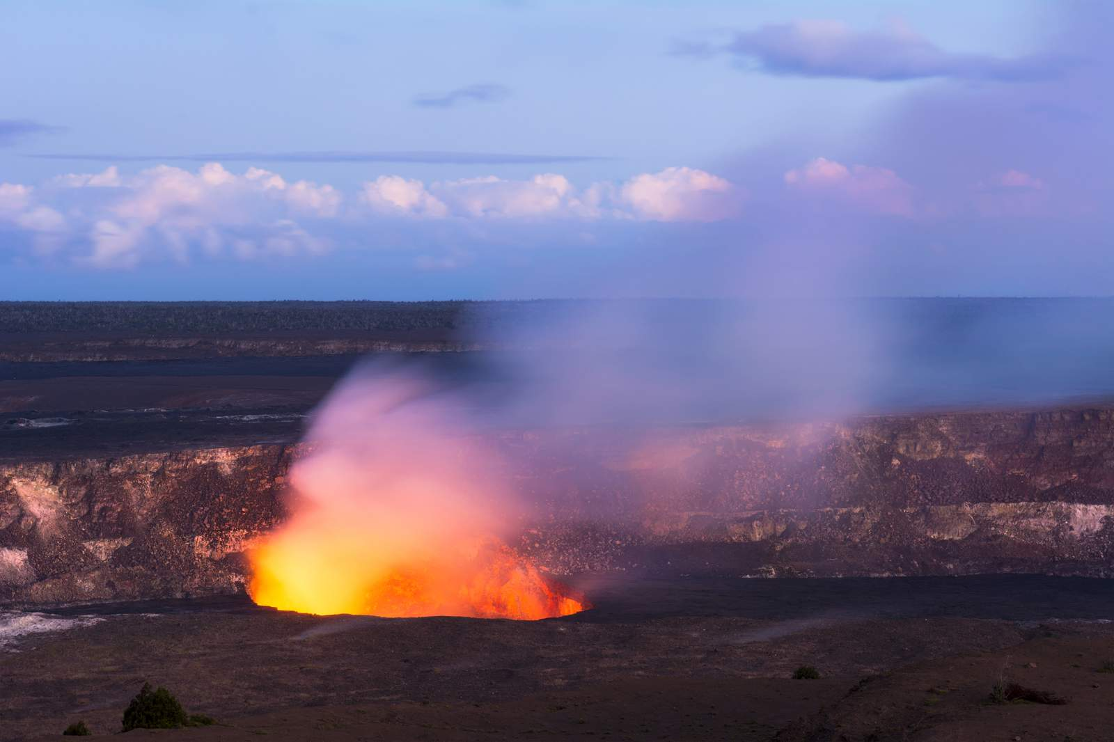 Aktiver Vulkan auf Hawaii Island