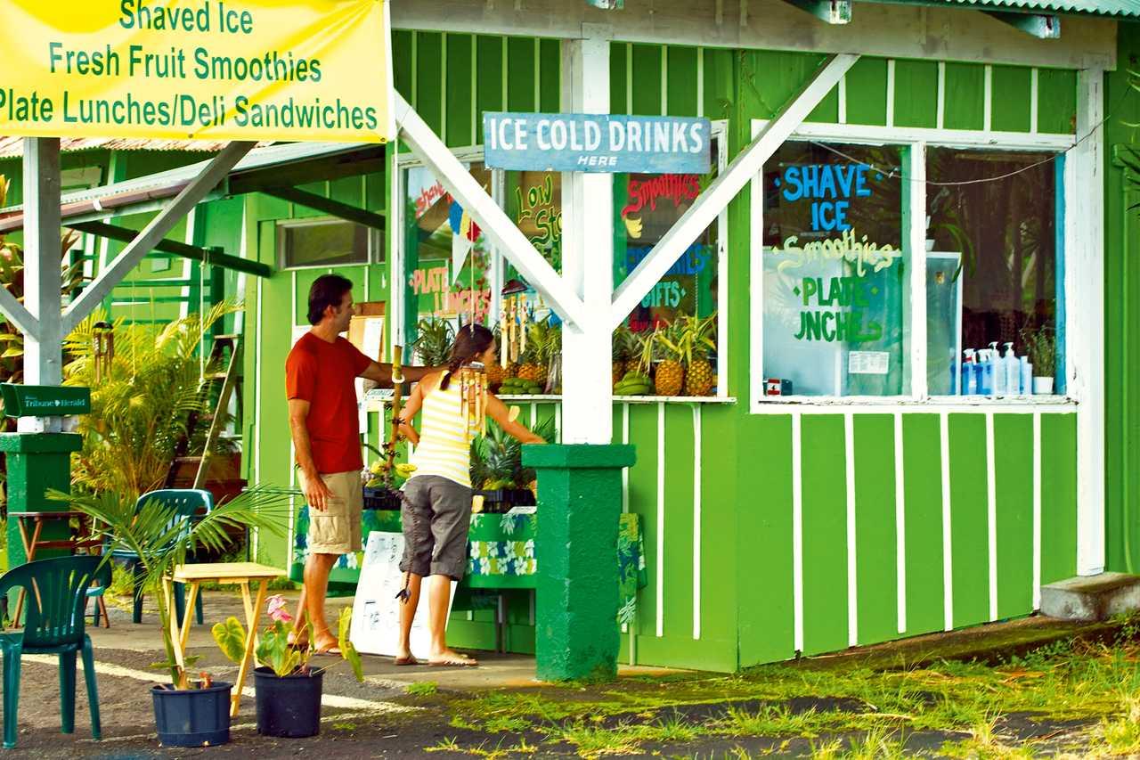 Couple visit roadside store