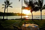Der entspannende Sonnenuntergang auf Hawaii Island
