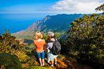Der Blick über das Kalalau Valley auf Kauai, Hawaii