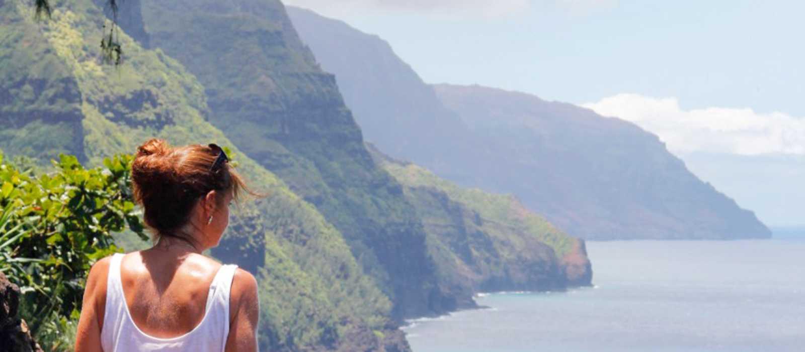 Spektakulärer Blick auf die Napali Küste