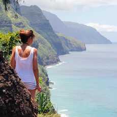 Wunderschöner Blick auf die Napali Coast