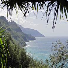 Blick vom Kalalau-Trail auf die Napalikueste