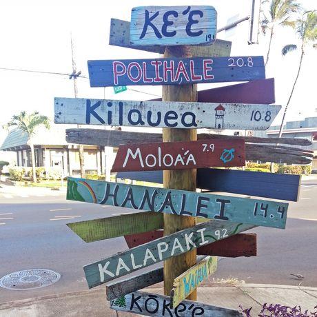 Viele Orte auf Kauai