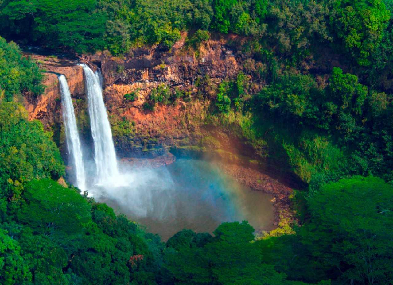 Wailua Falls aerial