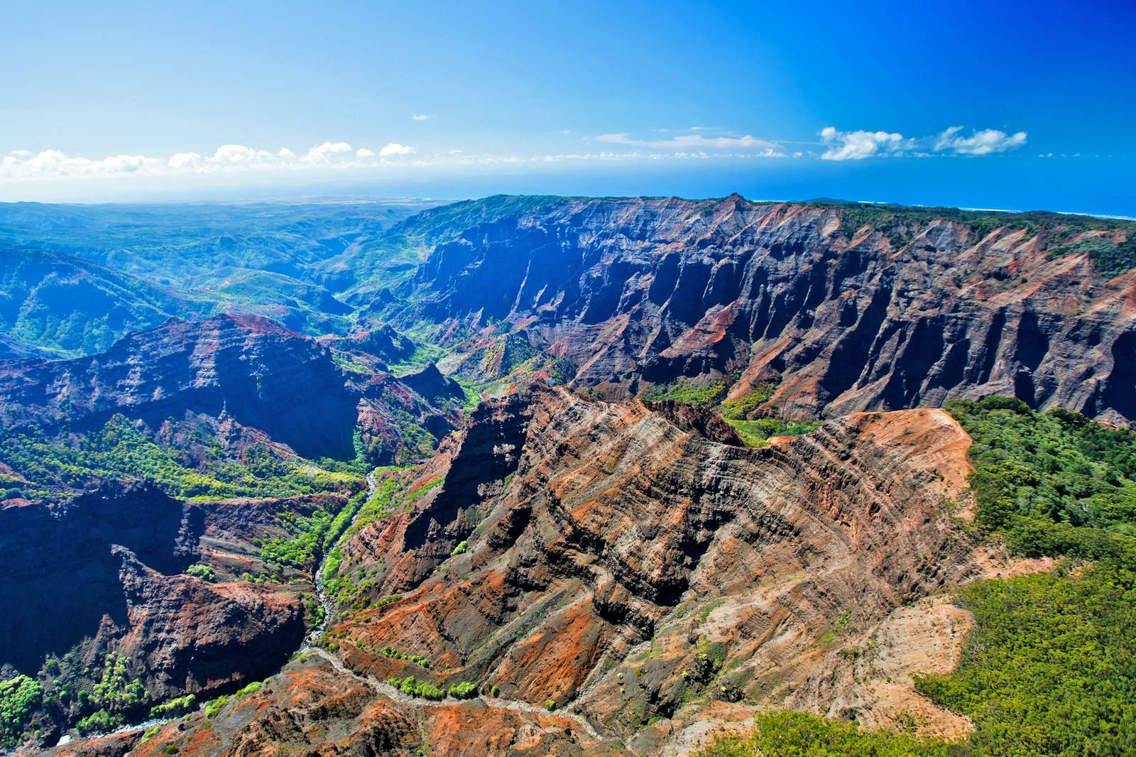 Waimea Canyon, der Grand Canyon des Pazifiks, auf Kauai