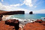 Der Blick auf Puu Pehe Lanai, Hawaii