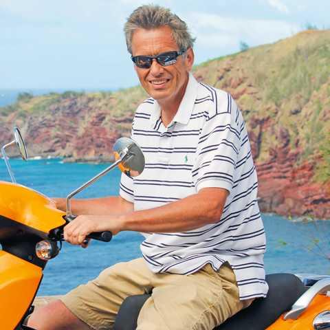 Fahrt mit dem Scooter auf Maui