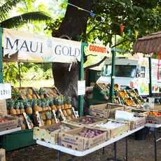 Obststand in Olowalu, Maui