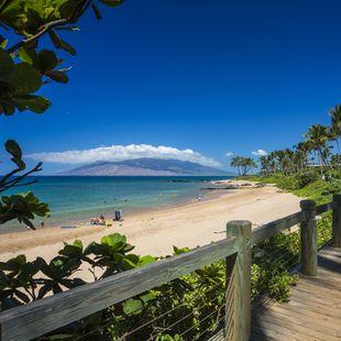 Der wunderschöne Wailea Boardwalk Beach auf Maui, Hawaii