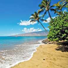 Strand an Mauis Westkueste