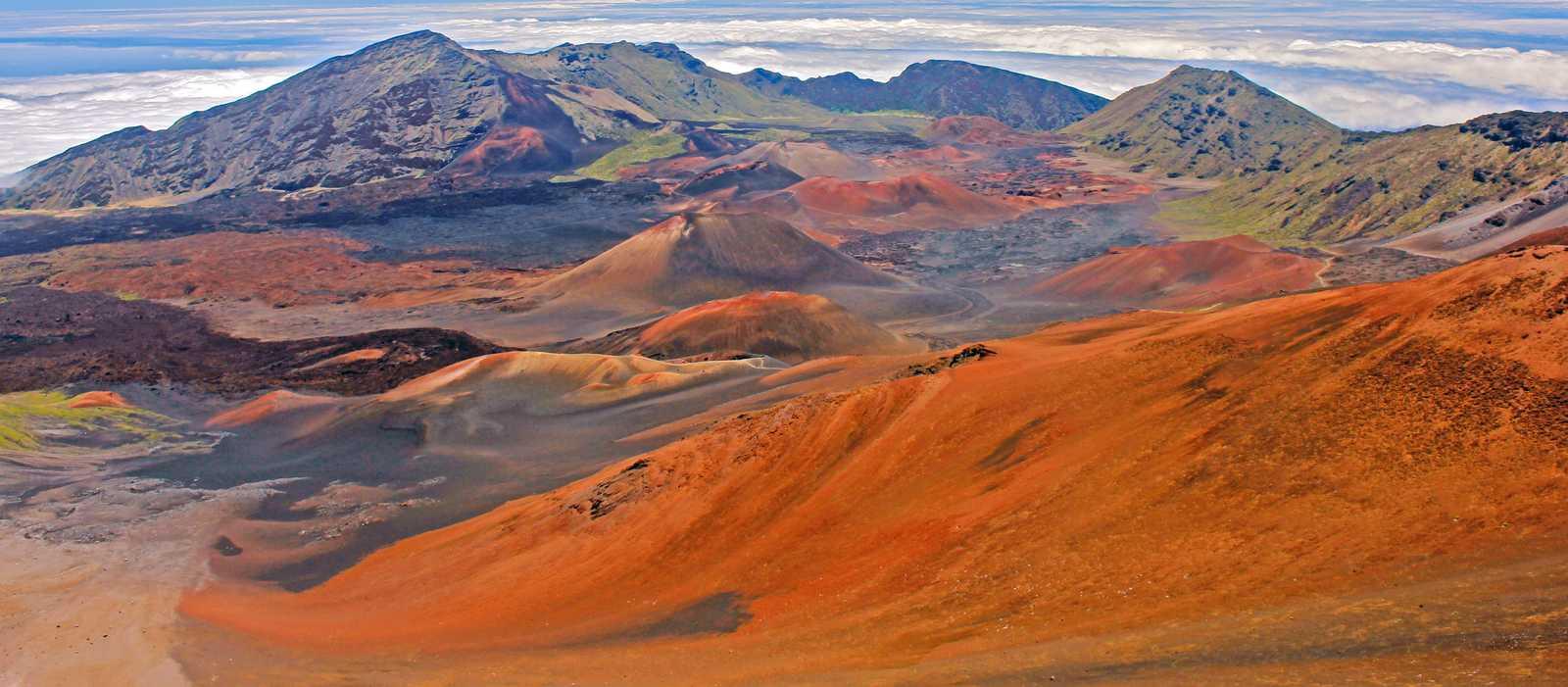 Blick auf den Haleakala-Krater